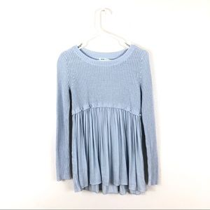 Urban Outfitters Kimchi Blue Knit Pleated Sweater